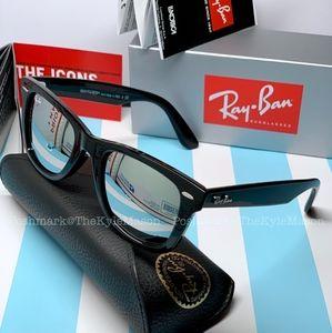 Silver Mirror Rayban Original Wayfarer Sunglasses